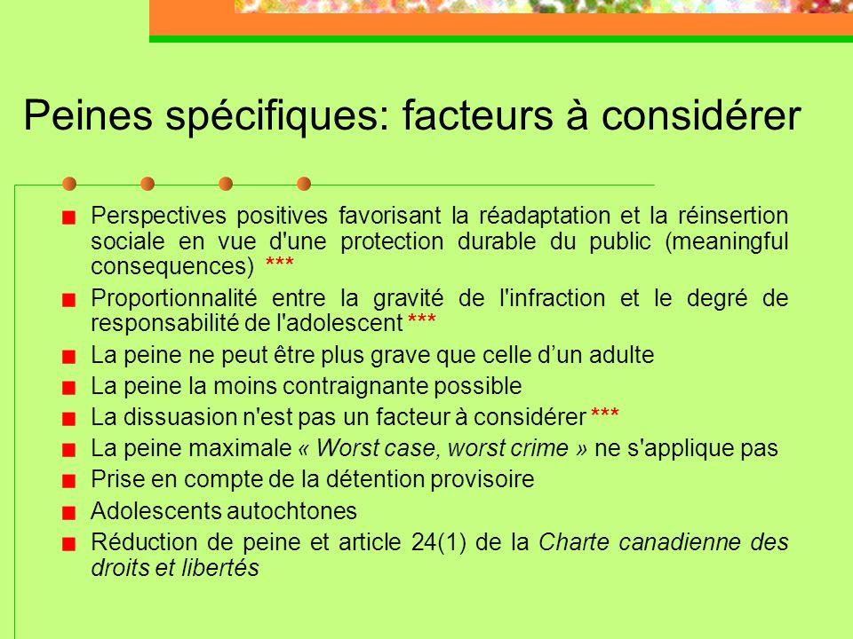 Plaidoyer de culpabilité (art.36(1) et (2) LSJPA) R.