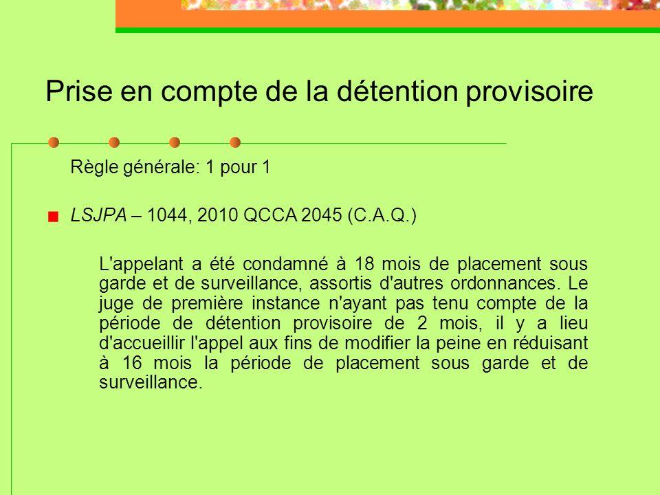 La peine maximale « Worst case, worst crime » ne s'applique pas LSJPA – 0827, 2008 QCCA 1180 (C.A.Q.) Adolescent autochtone condamné à 10 ans de mise