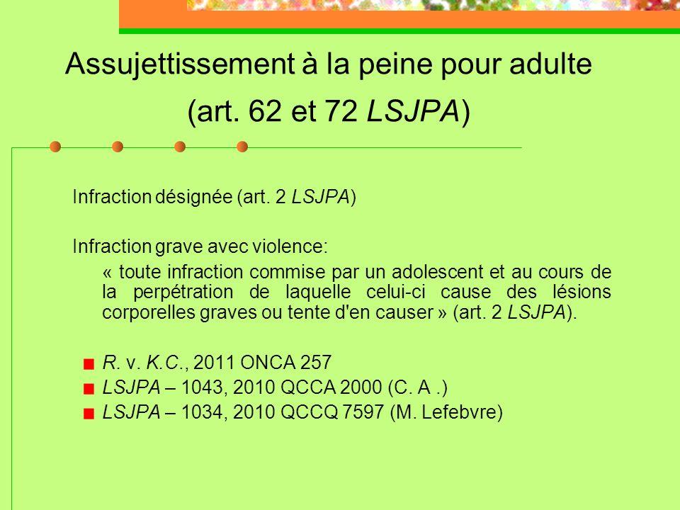Mise sous garde: attention Une mesure de dernier recours et qui ne doit pas se substituer aux services de protection de la jeunesse (art. 39(2) (3) (5