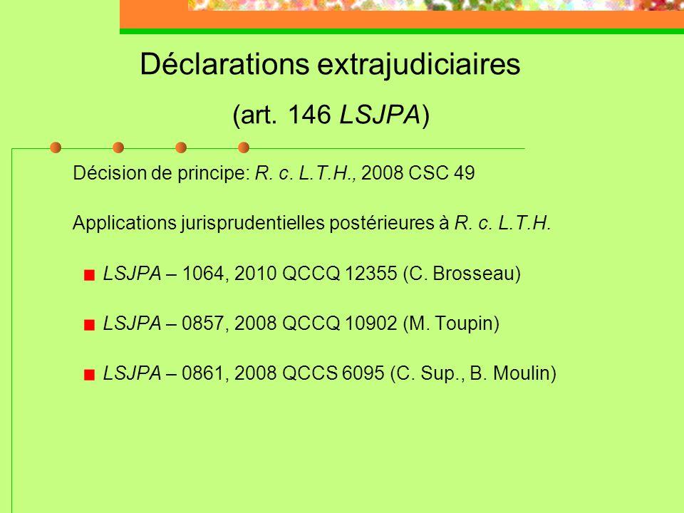 Ordonnances de prélèvements génétiques 3) Sil sagit dune infraction secondaire, le tribunal lordonne sil est convaincu que cela servirait au mieux lad