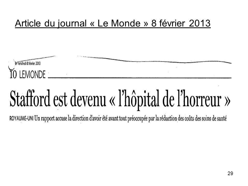 Article du journal « Le Monde » 8 février 2013 29