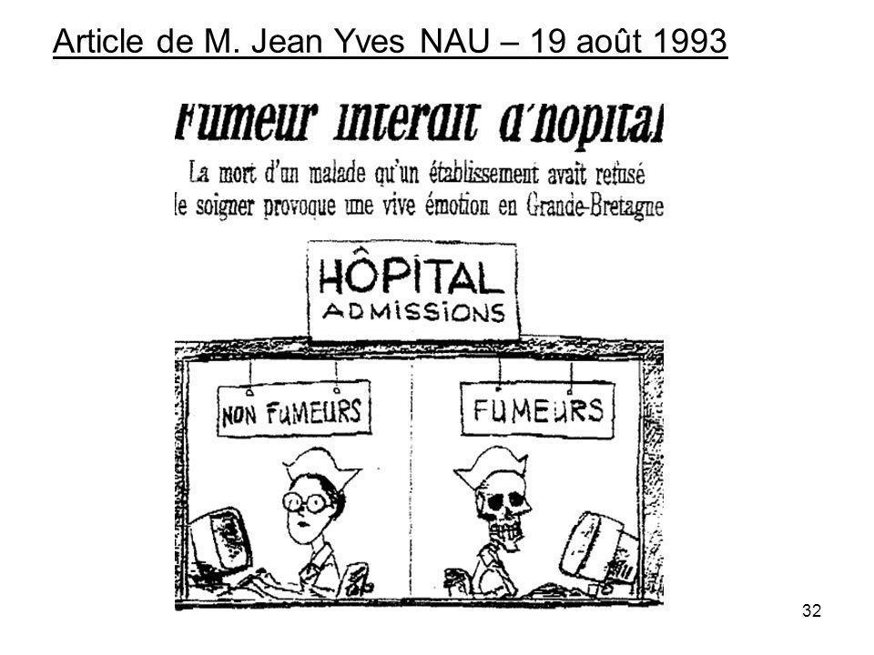 Article de M. Jean Yves NAU – 19 août 1993 32