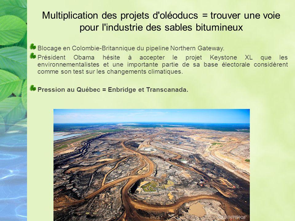 Ligne 9 En novembre 2012, Enbridge dépose une demande à lOffice National de lÉnergie (ONÉ) du Canada pour inverser son flux et augmenter sa capacité à 300 000 barils par jour, pour transporter le «pétrole lourd» des sables bitumineux de lAlberta.