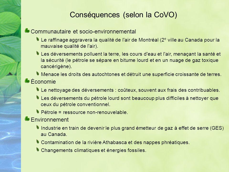 Projets pétroliers et gaziers Présentement = Intensification de l exploitation des sources non conventionnelles de combustibles fossiles – dont les sables bitumineux et le gaz et le pétrole de schiste - au niveau international, au Canada et au Québec (Anticosti, golfe du St-Laurent).