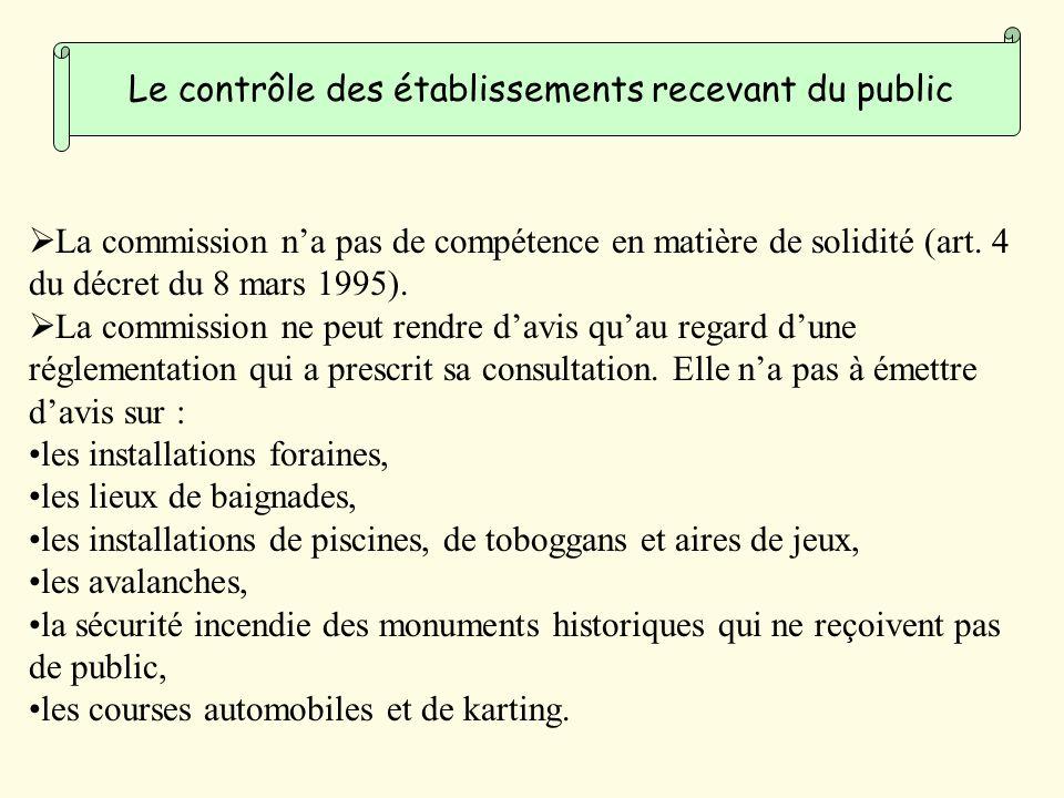 La commission na pas de compétence en matière de solidité (art.