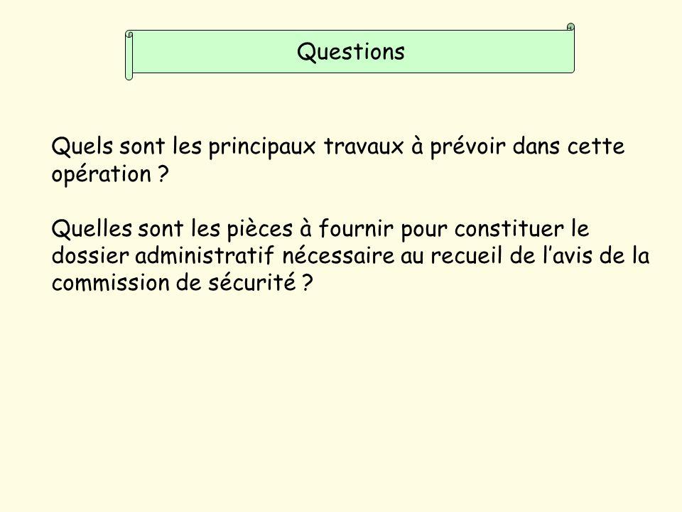 Questions Quels sont les principaux travaux à prévoir dans cette opération .
