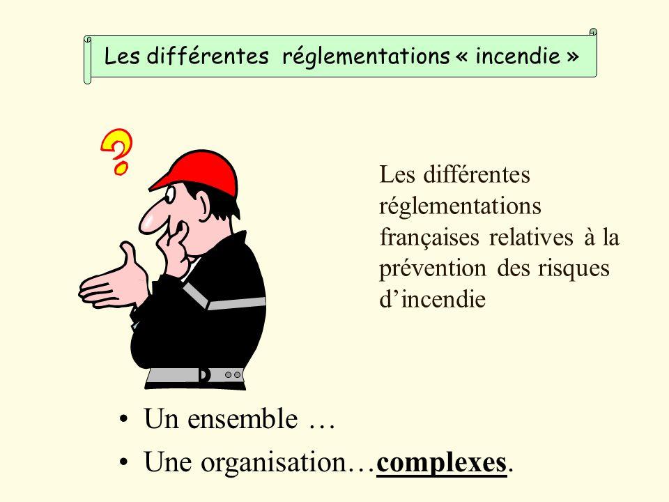 Un ensemble … Une organisation…complexes.