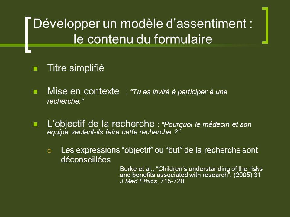Développer un modèle dassentiment : le contenu du formulaire Titre simplifié Mise en contexte : Tu es invité à participer à une recherche.