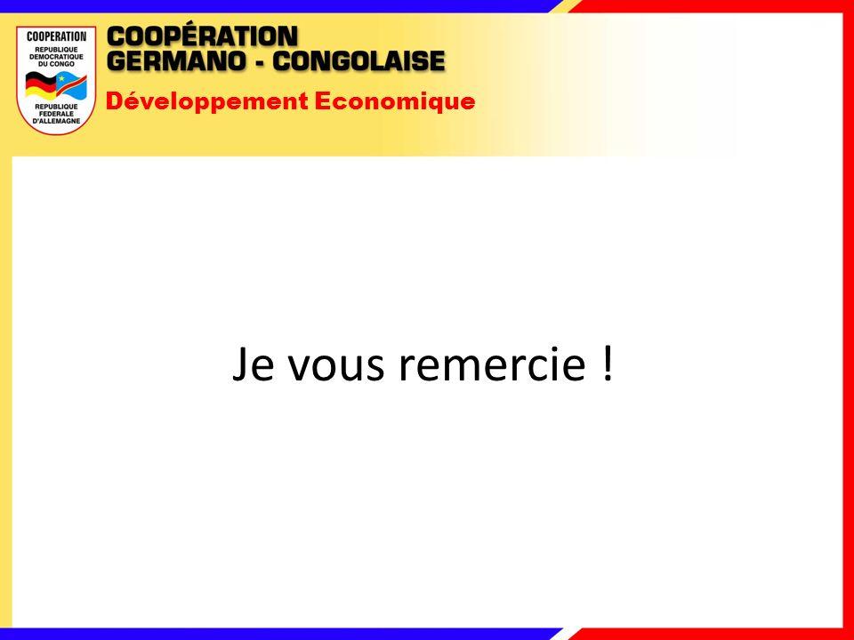 Développement Economique Je vous remercie !