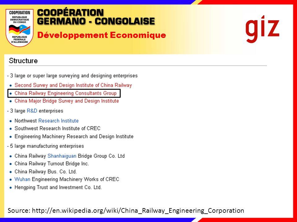 Développement Economique 2.Convention de joint-venture (SICOMINES Sarl) 09/2008, Source: Global Witness 2011