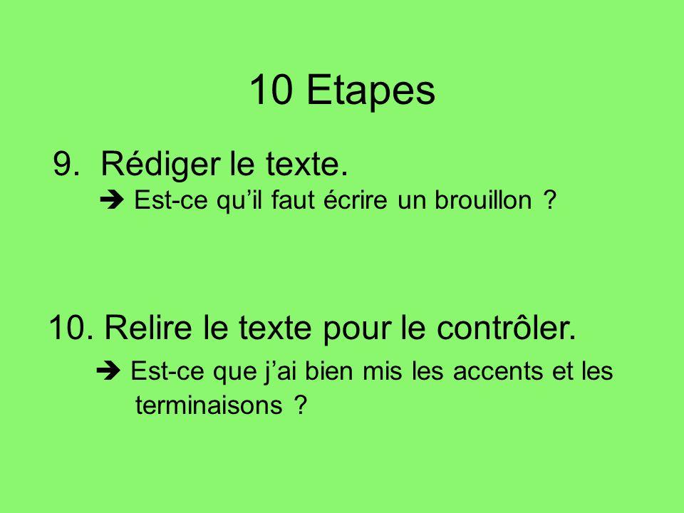 10 Etapes 9.Rédiger le texte. Est-ce quil faut écrire un brouillon .