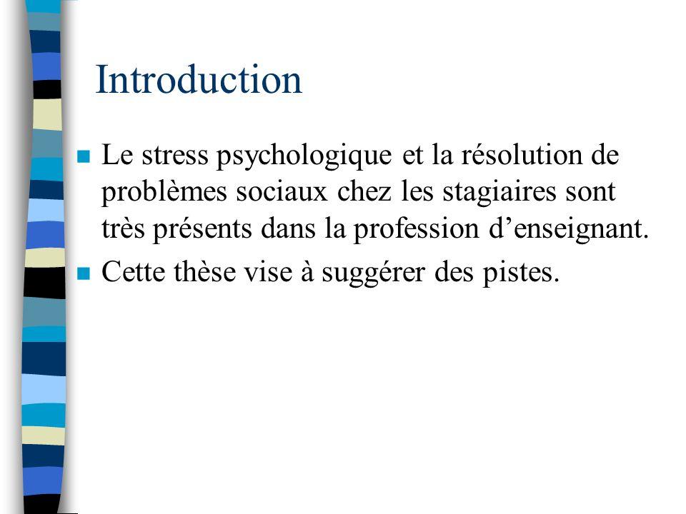 Article 3, Méthodologie (instruments) n Stress = questionnaire de Derogatis (DSP®, 1987).