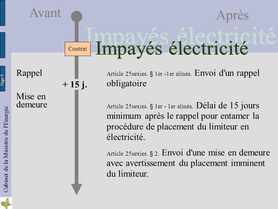 Page 20 Cabinet de la Ministre de l Energie Avant Après Art.20quater §2.