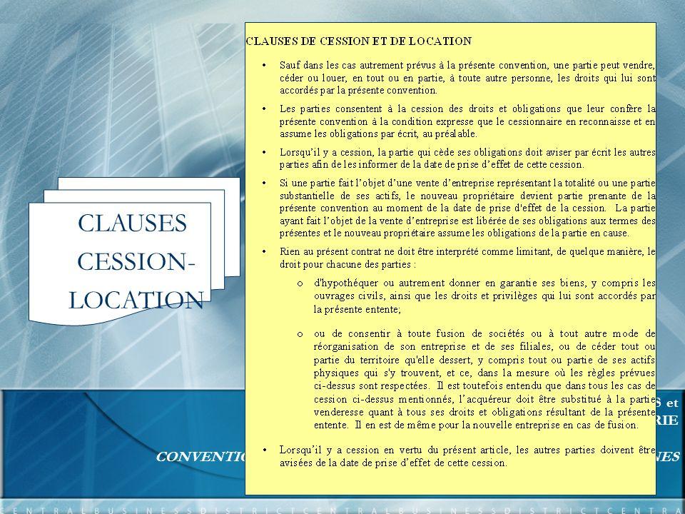DROITS ET ENTENTES61 FORMATION UNITÉS RELATIONS D AFFAIRES et EXPERTISE ET SUPPORT INGÉNIERIE CONVENTION RÉSEAUX - BORNES DE RACCORDEMENT COMMUNES CLAUSES CESSION- LOCATION