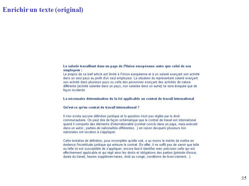 35 Page daccueil (home) Enrichir un texte (original)