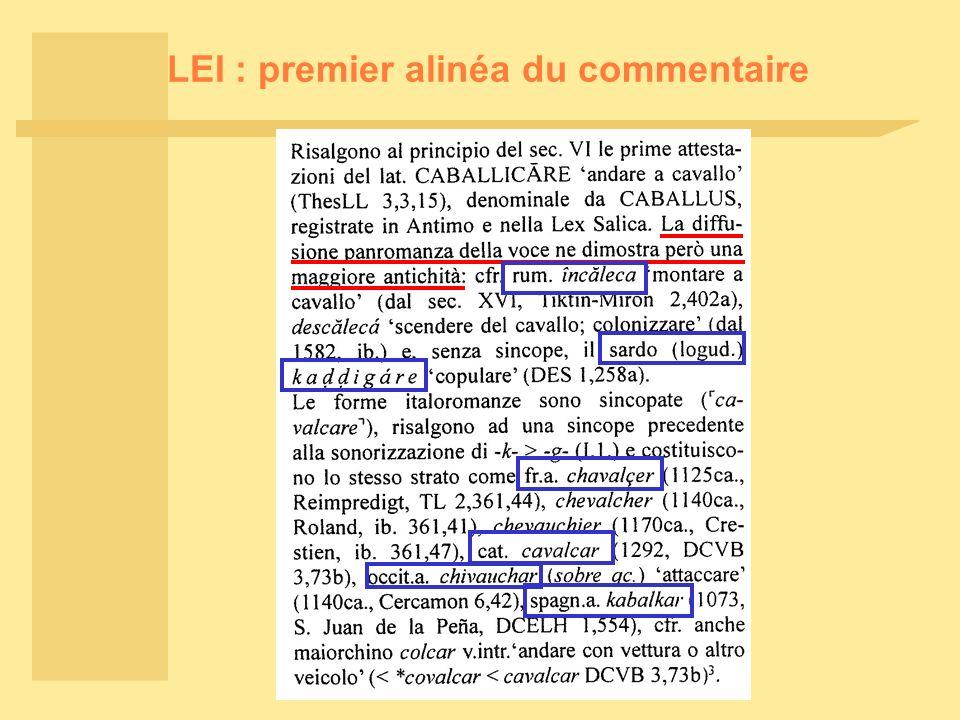 LEI : premier alinéa du commentaire