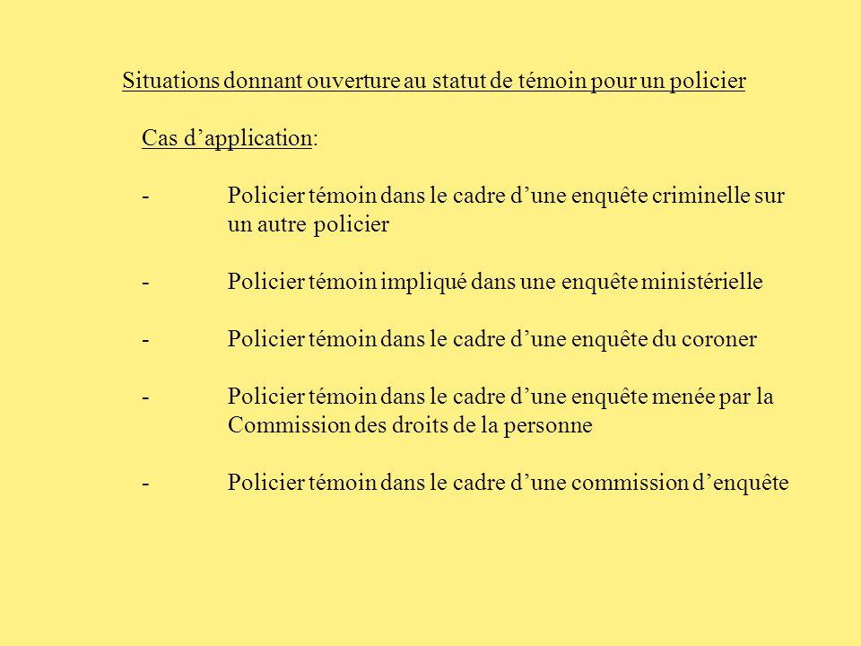 Conférence des représentants de la défense des policiers 15 avril 2008 Le rôle de lavocat face au policier témoin Par Maître Nadine Touma