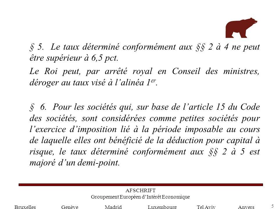 5 GenèveLuxembourgMadridTel AvivAnvers § 5.