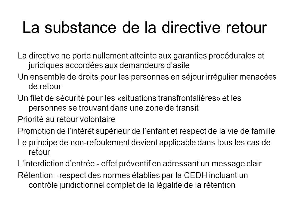 Les mineurs - directive retour Larticle 5 fait expressément référence à lintérêt supérieur de lenfant et à la vie de famille.