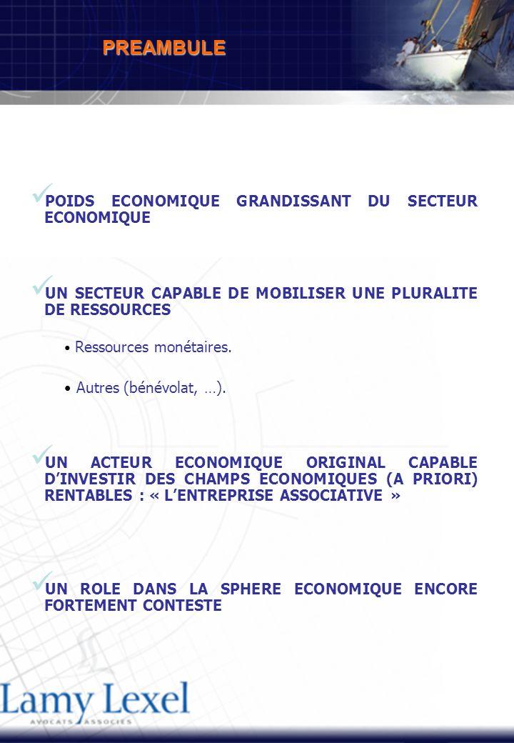 POIDS ECONOMIQUE GRANDISSANT DU SECTEUR ECONOMIQUE UN SECTEUR CAPABLE DE MOBILISER UNE PLURALITE DE RESSOURCES Ressources monétaires.