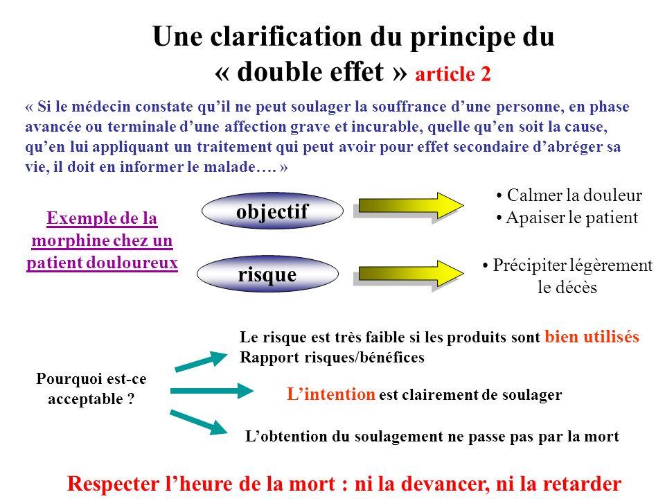 situation 1 Décision de limitation de soins pour tous les patients Article 4Article 5 Patient conscient Le médecin doit respecter la volonté de la personne malade.