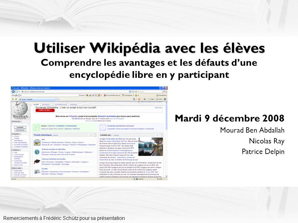 Programme de la journée –08.30-08.45 Accueil et présentation de la journée Quest-ce quune encyclopédie libre .
