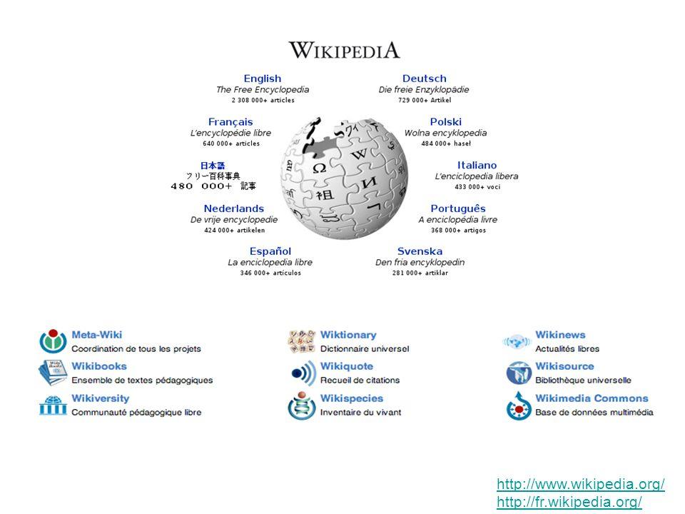 http://www.wikipedia.org/ http://fr.wikipedia.org/