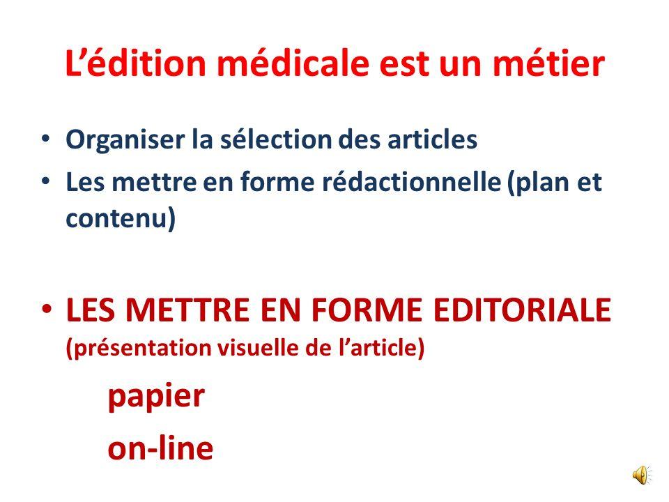 Il faut un contrôle des publications Comités de rédaction des revues – papier et on-line Comités scientifiques des associations – Évaluation des commu