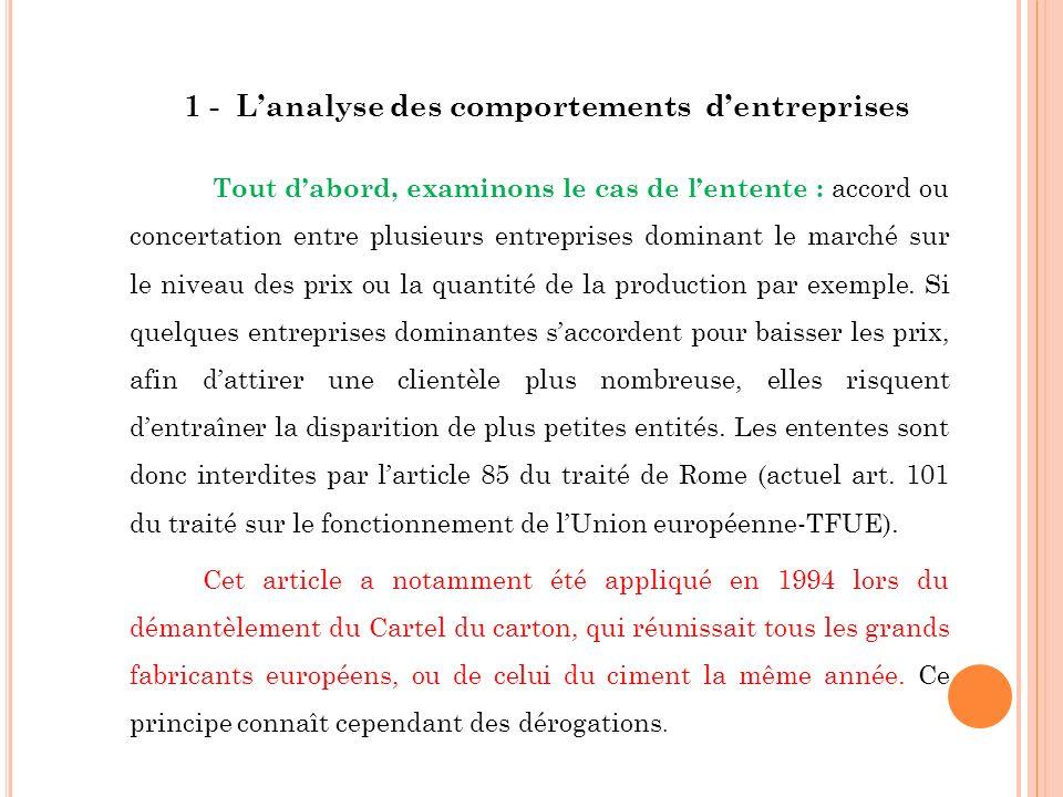 Selon larticle 85 (actuel art.
