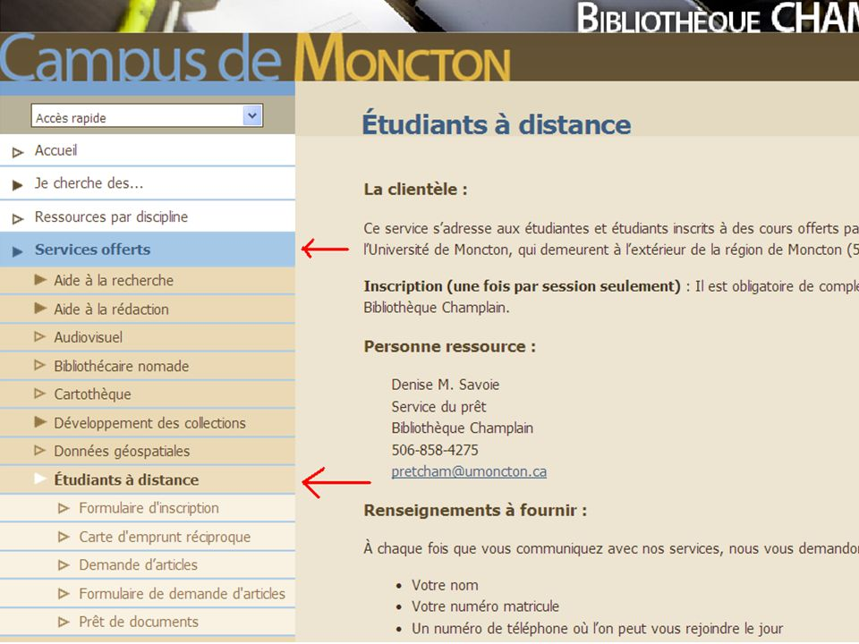 Étudiants à distance