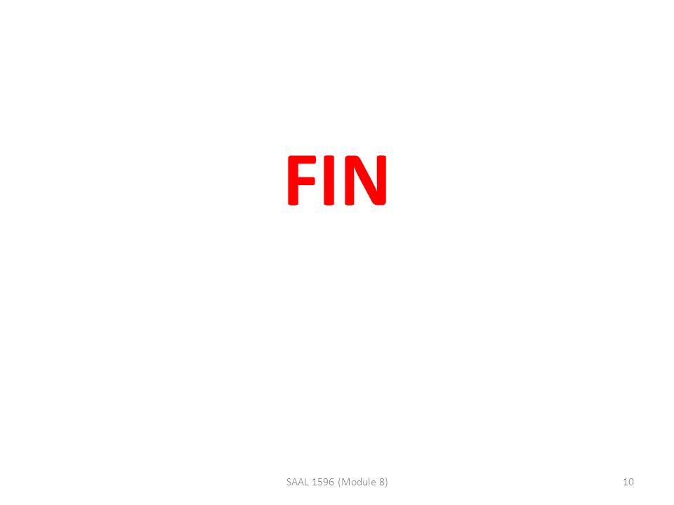 FIN 10SAAL 1596 (Module 8)