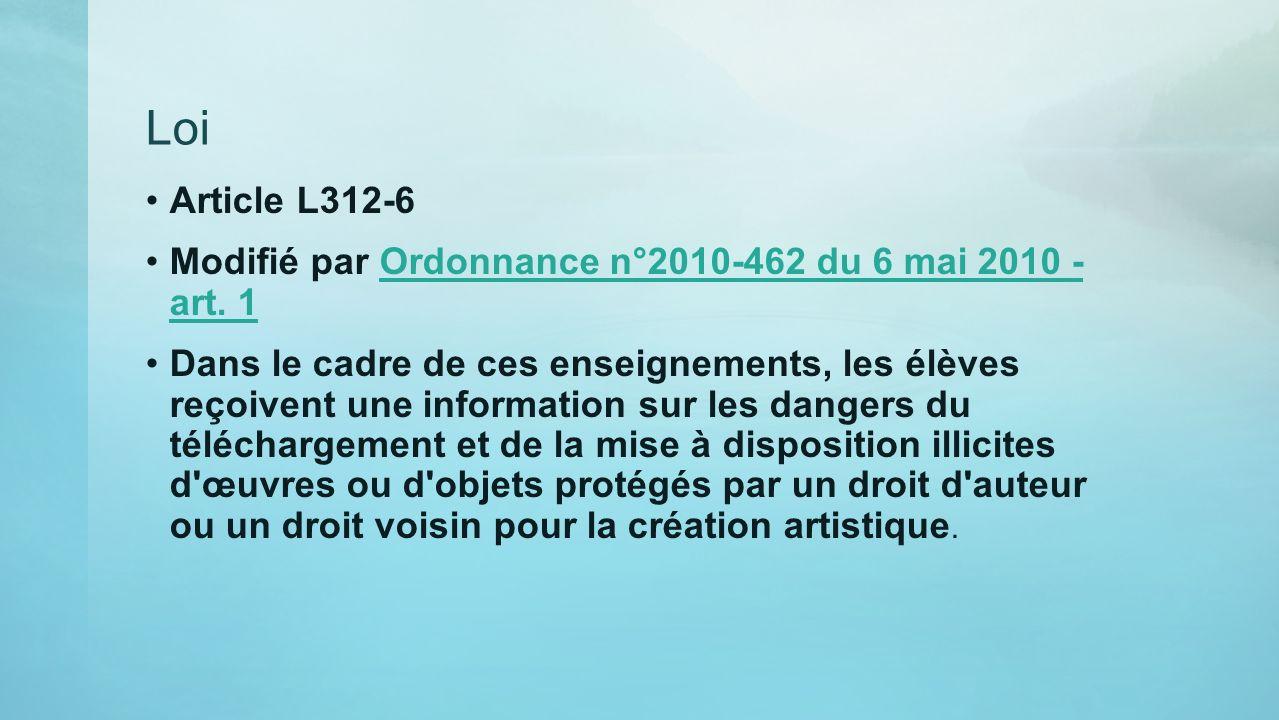 Loi Article L312-6 Modifié par Ordonnance n°2010-462 du 6 mai 2010 - art. 1Ordonnance n°2010-462 du 6 mai 2010 - art. 1 Dans le cadre de ces enseignem