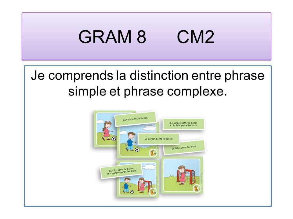 GRAM 9 CM2 Je reconnais les propositions indépendantes.