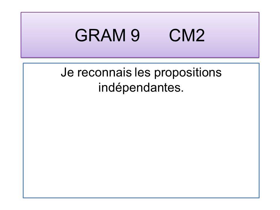 GRAM 10 CM2 Je reconnais les propositions coordonnées.