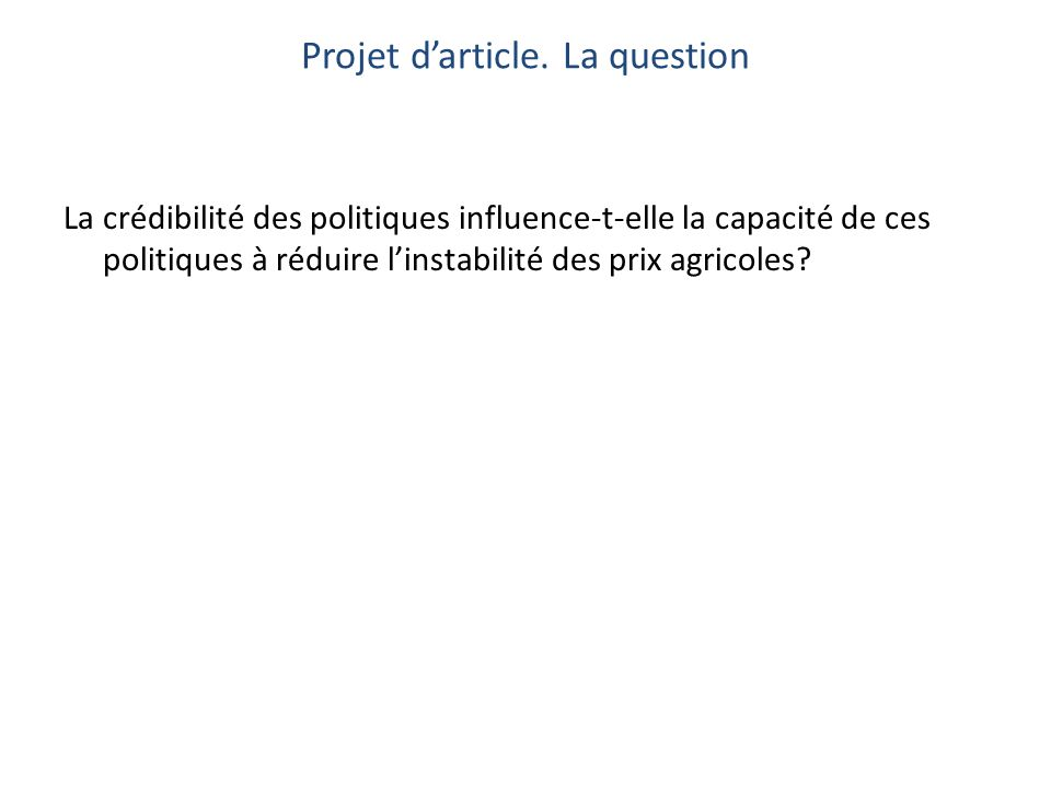 Projet darticle.