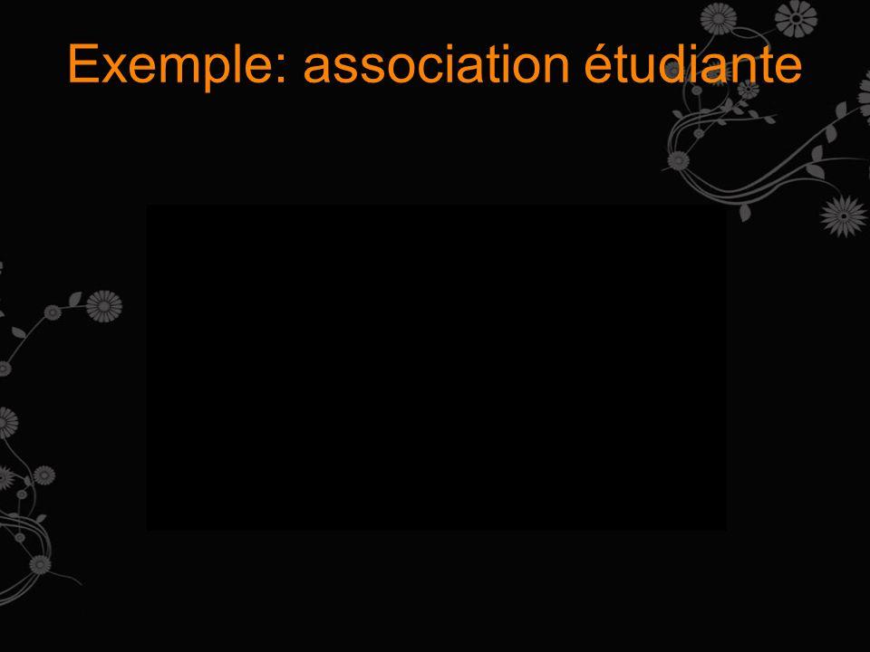 Exemple: association étudiante