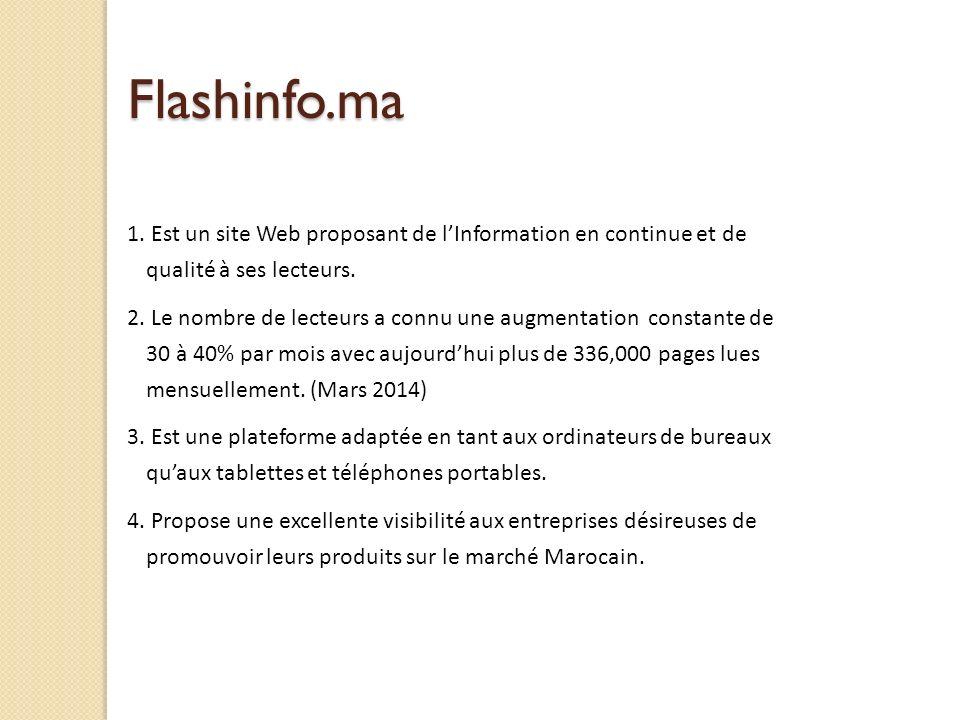 Flashinfo.ma 1.Est un site Web proposant de lInformation en continue et de qualité à ses lecteurs.