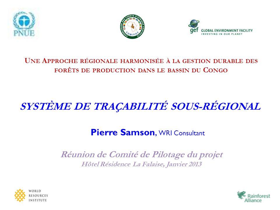 Projet PNUE-FEM …une approche régionale harmonisée à la gestion durable des forêts de production du bassin du Congo.