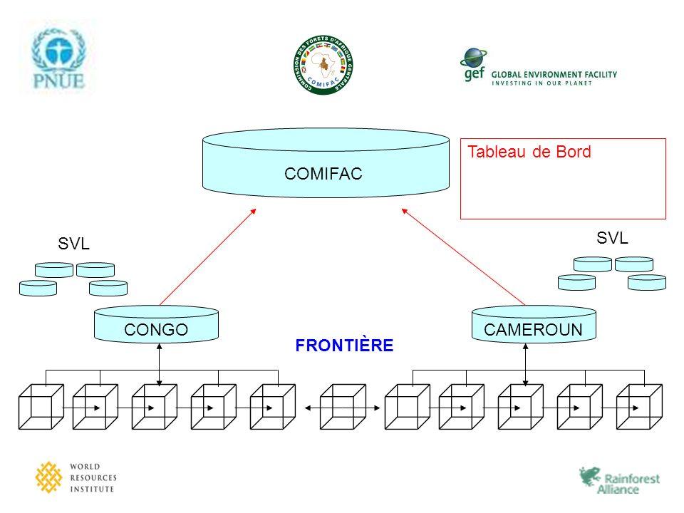 CAMEROUN COMIFAC FRONTIÈRE CONGO SVL Tableau de Bord