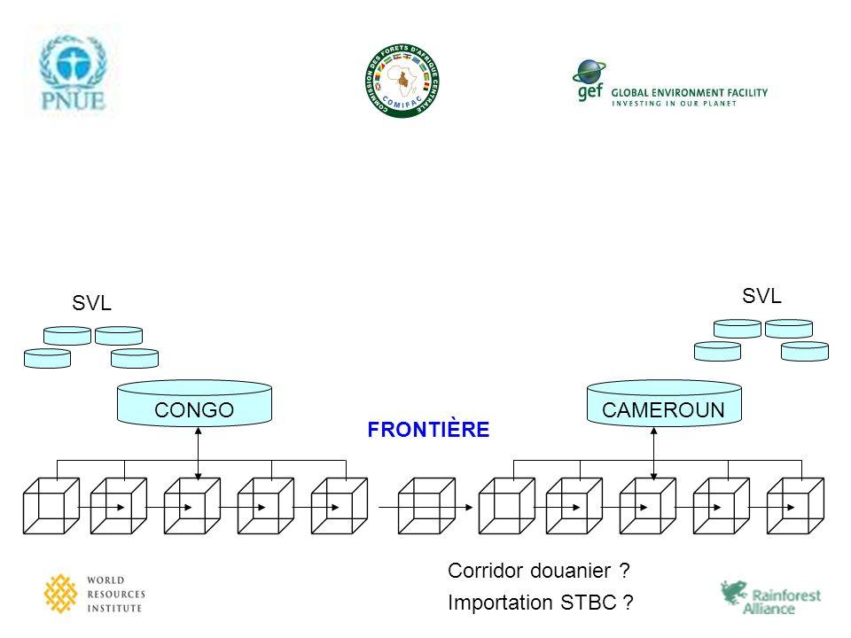 CAMEROUN FRONTIÈRE CONGO SVL Corridor douanier ? Importation STBC ?