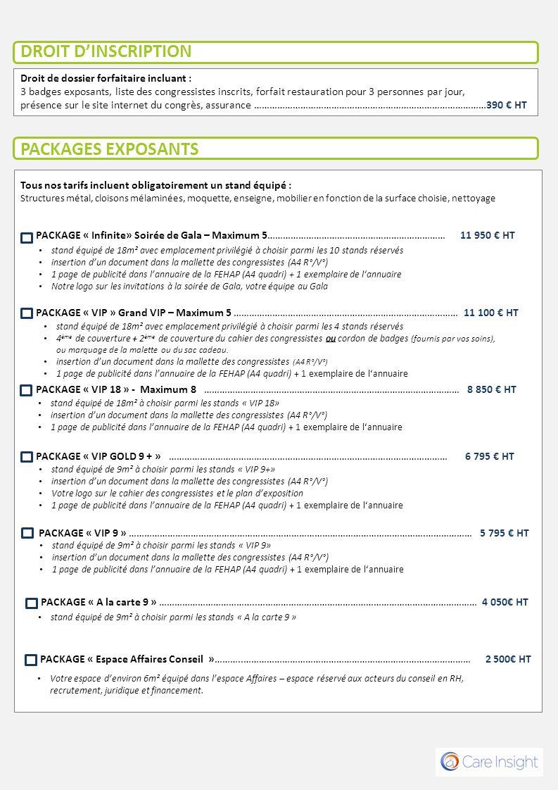 PACKAGES EXPOSANTS Nouveau .