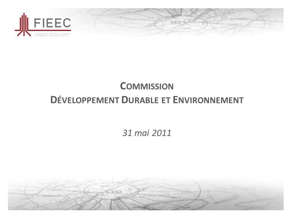 C OMMISSION D ÉVELOPPEMENT D URABLE ET E NVIRONNEMENT 31 mai 2011