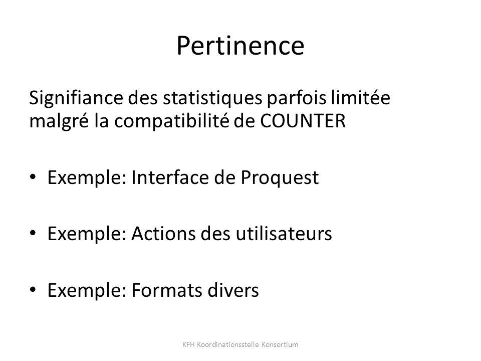 Exemple: Interface de ProQuest KFH Koordinationsstelle Konsortium