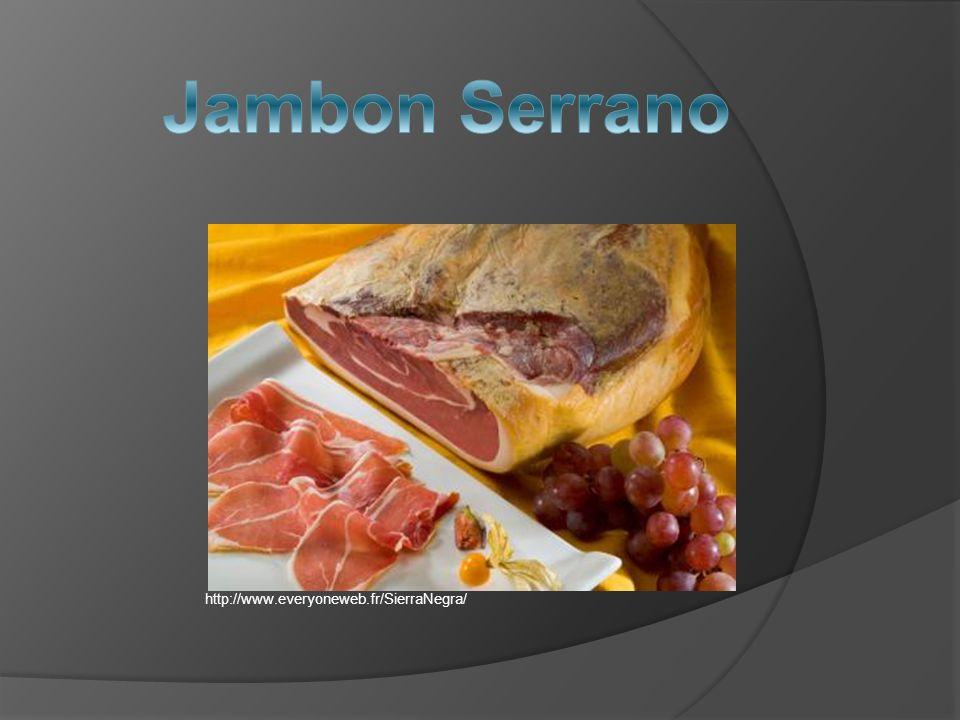 Le jambon serrano est un des éléments les plus caractéristiques de la gastronomie espagnole.