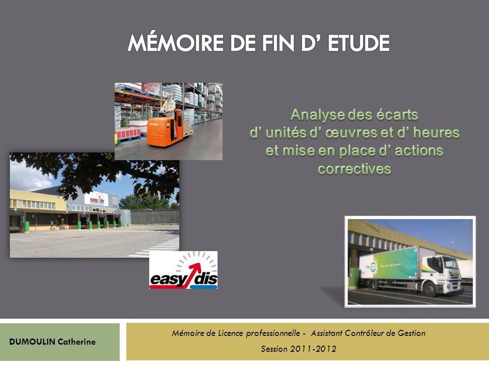 DUMOULIN Catherine Mémoire de Licence professionnelle - Assistant Contrôleur de Gestion Session 2011-2012