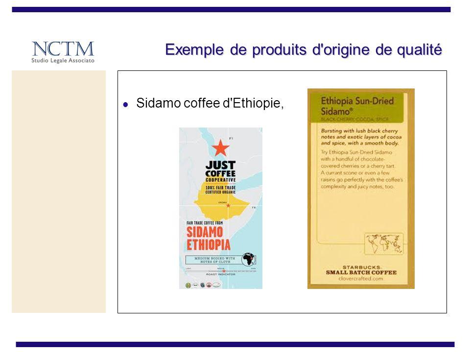 Exemple de produits d'origine de qualité Sidamo coffee d'Ethiopie,