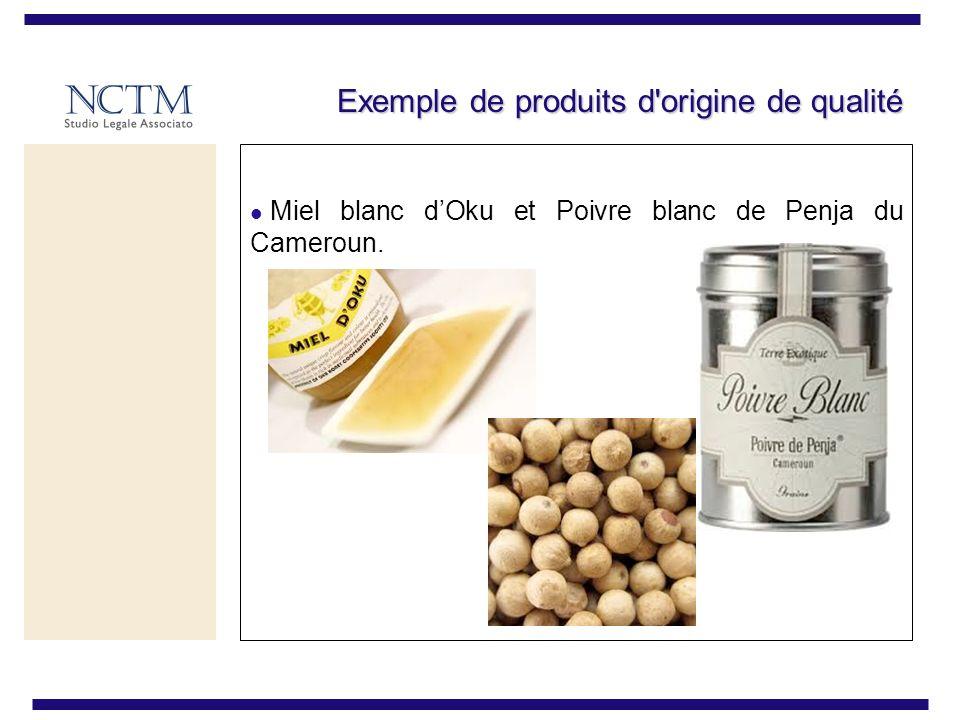 Exemple de produits d'origine de qualité Miel blanc dOku et Poivre blanc de Penja du Cameroun.