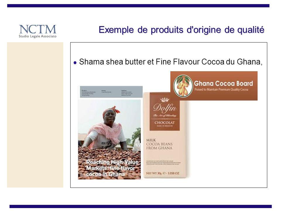 Exemple de produits d'origine de qualité Shama shea butter et Fine Flavour Cocoa du Ghana,