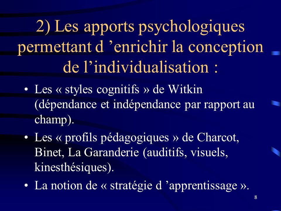 19 3) Travail individuel : Déterminer les actions de formation dont j aurais besoin pour atteindre les objectifs non atteints.