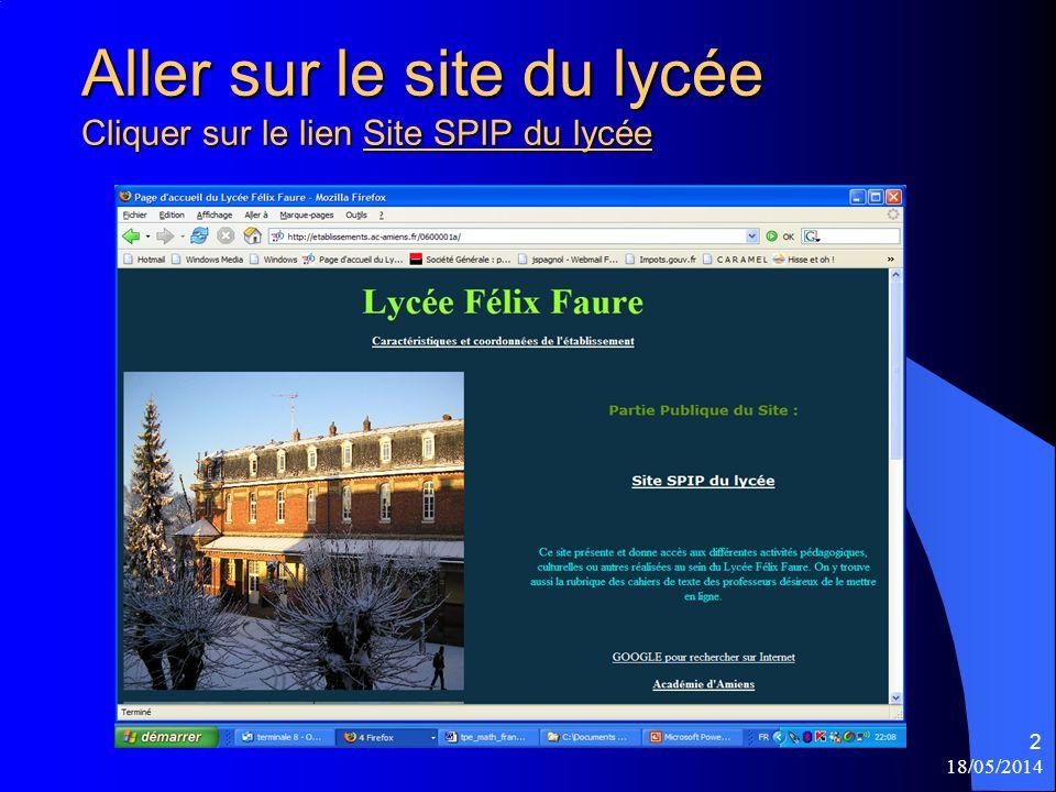18/05/2014 3 SPIP du lycée Félix Faure Les derniers articles écrits figurent à la une.